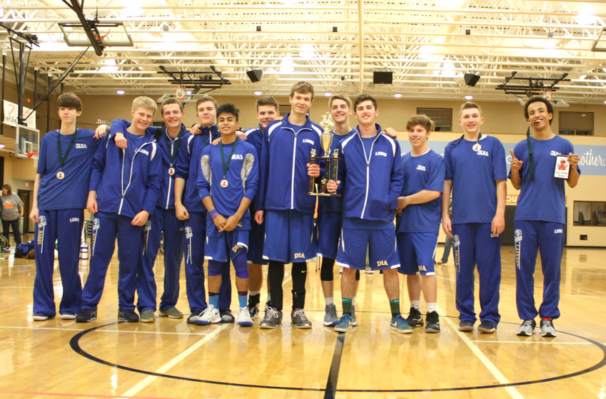 The Daniel 1 High School team won the tournament in Bowling Green, Ky. The team includes, from left: Colby Hobbs, Grady Giffey, Luke Welte, Brick Wall, Jr., Joey Smith, Eli Vaughn, Garret Woodside, Carson Vaughn (behind trophy), Blake Smith, Alex Giordano, Madden Smith, Braxton Lafever. Josiah Watson and Ethan Norris are not pictured.