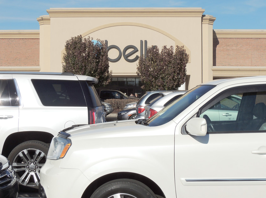 Shoppers leave Belk Tuesday afternoon, prior to the Black Friday rush.