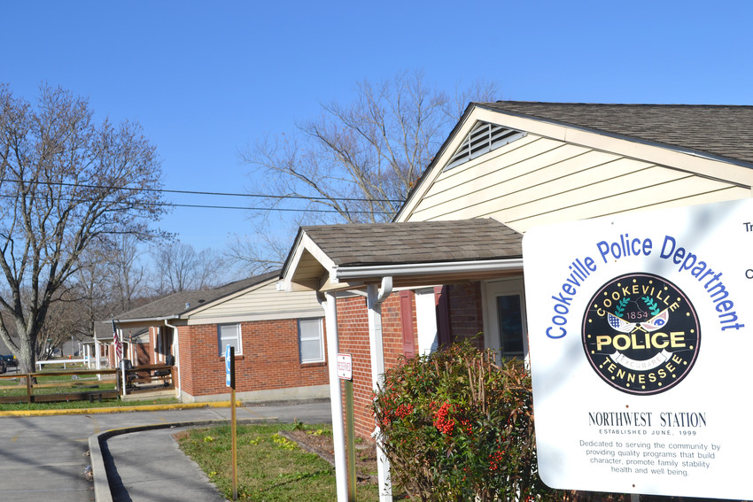 The Cookeville Police Department's substation at the corner of 7th Street and Pine Avenue marks the edge of one of the public housing developments in Cookeville where residents may soon see an increase in rent.