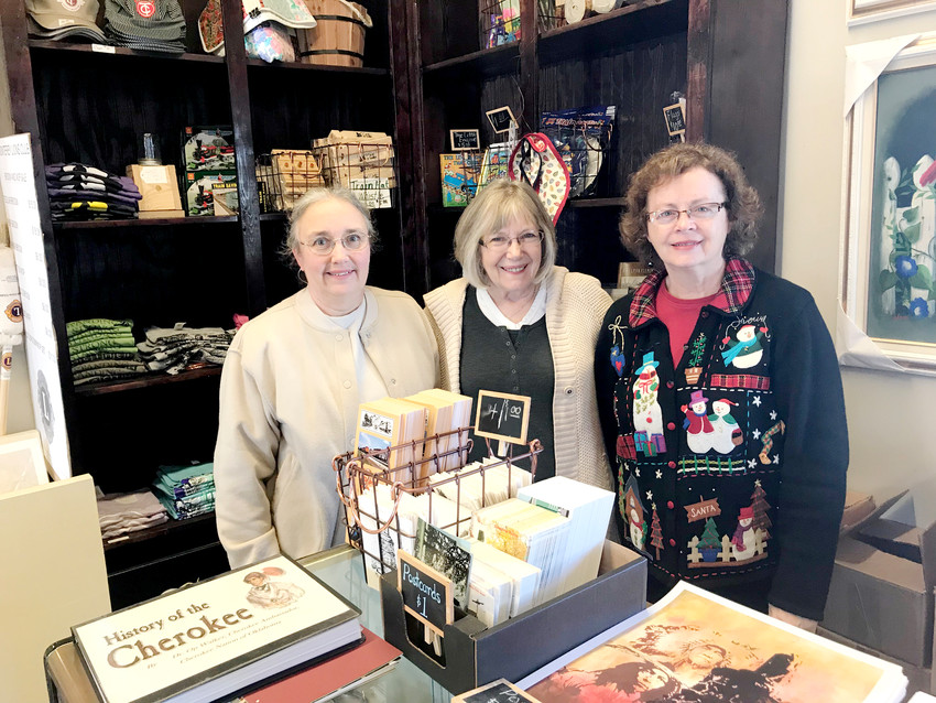 Kick off Christmas in Monterey all day on Dec. 2 beginning at 8 a.m. at the Monterey Depot Museum's Hearth & Home Market. Pictured from left, Hearth & Home vendors Martha Yoder, Kathy Dobra and Charlotte McCowan.