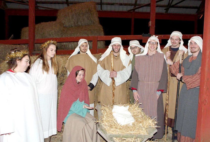 The live nativity scene from last year.