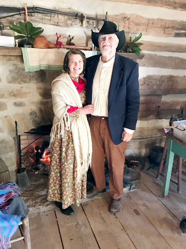 Christmas at the 1820 Cabin will be conducted by Granville volunteers Larry and Brenda Edmondson of Cookeville. At Pioneer Village Cabin, the Edmondsons will share hot cobbler cooked over the open fire in the historic rock fireplace and offer  hot cider  free during Granville Country Christmas Saturday.