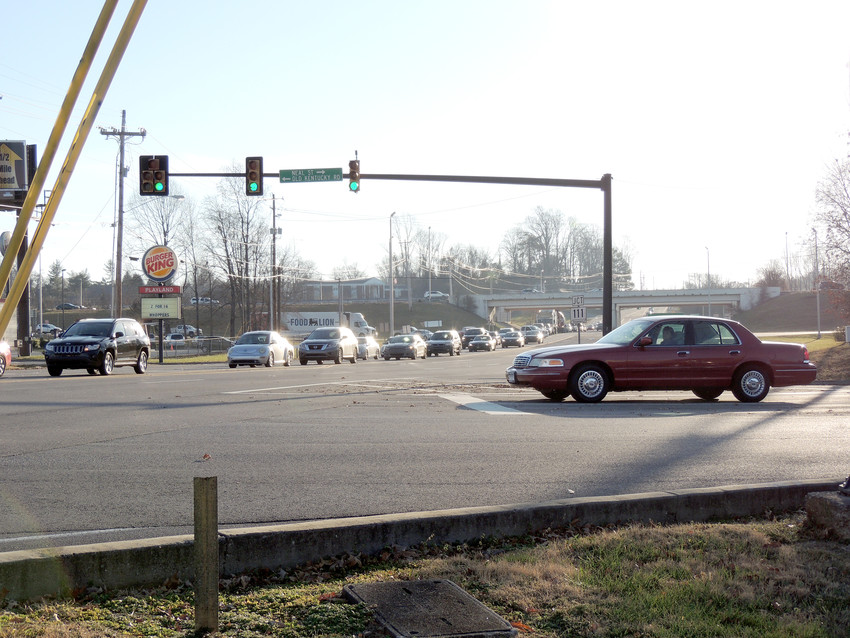 Hwy. 70 heading toward I-40 will be a major focus of improvement in the city of Cookeville's updated major street plan.