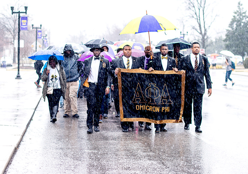 The Tennessee Tech chapter of Alpha Phi Alpha hosted its 2017 silent march on campus. The 2018 event will begin at 11 a.m. on Tuesday as part of the university's Martin Luther King Jr. Day observations.