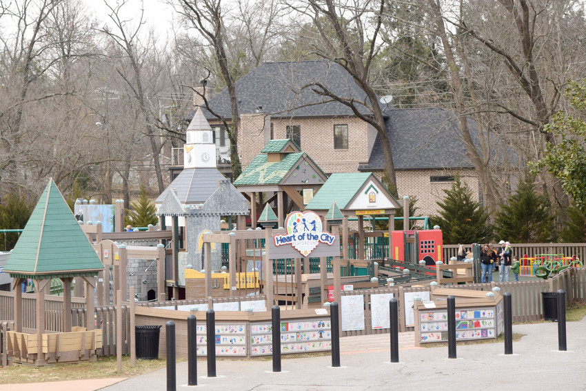Two neighbors of the Heart of the City Playground in Dogwood Park have asked for a variance to construct a wall between their properties and the playground.