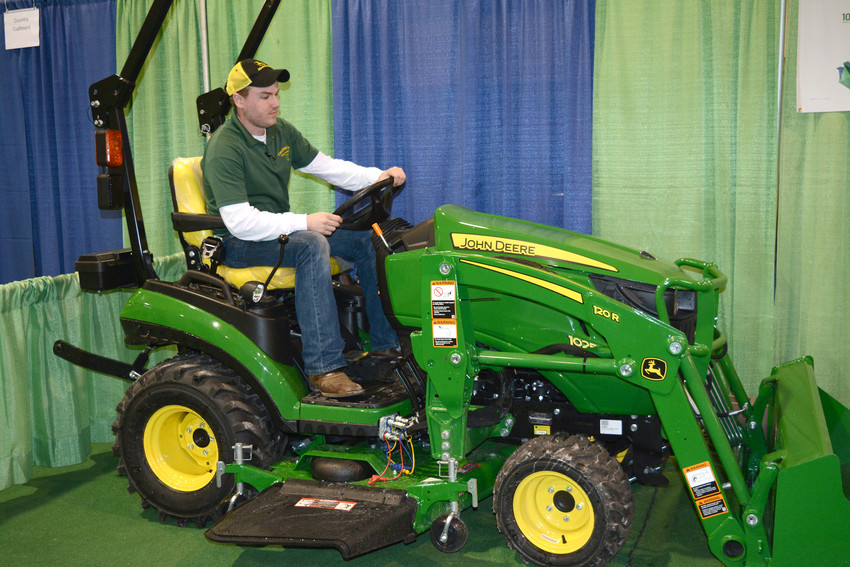 Branden Garrels with TriGreen Equipment is moving a tractor to the showroom floor in the Hyder-Burks Pavilion for the Home and Garden Show scheduled for this weekend. The show will be 4 to 8 p.m. Friday; 9 a.m. to 6 p.m. Saturday; and noon to 4 p.m. Sunday. It will be held at the Hyder-Burks Pavilion.