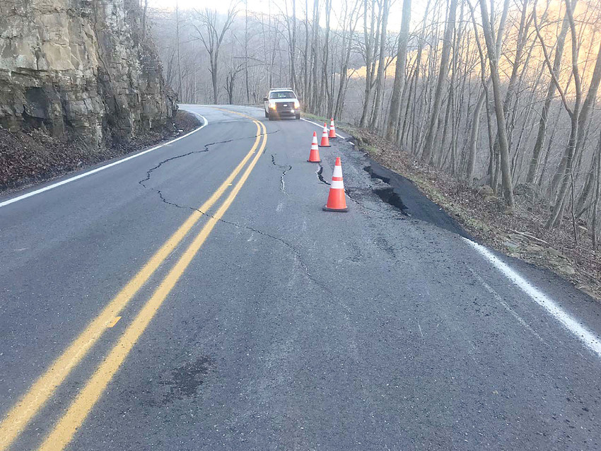 Tennessee Department of Transportation crews have closed State Route 85 in Fentress County between log miles 2 and 8 due to a pavement failure at log mile 6.8.  Part of the outside lane has failed and settlement continues in both lanes.  Runoff from the recent rains is still occurring in the area and may be contributing to the additional settlement. The closure is expected to last several days.
