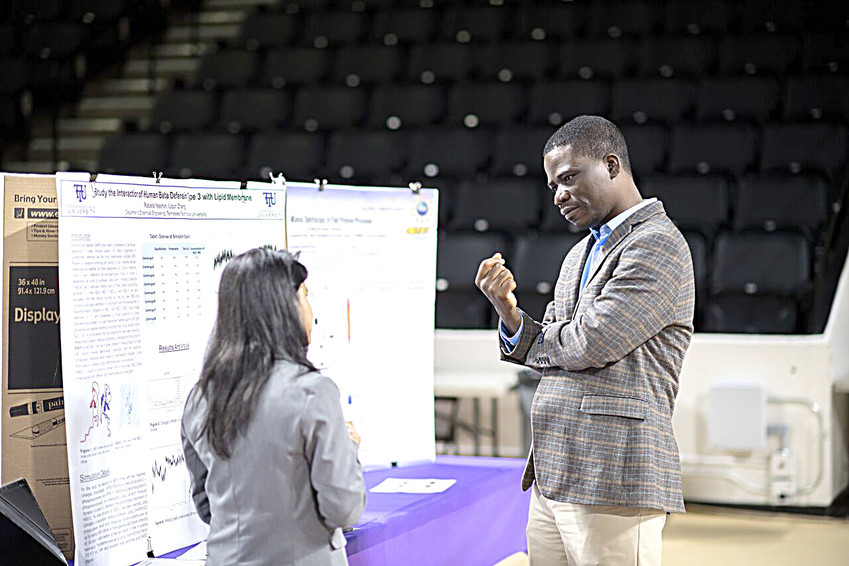Student research and creative work will be on display in Tennessee Tech's Hooper Eblen Center 9-11 a.m. Tuesday, April 10 for the university's annual Research and Creative Inquiry Day.