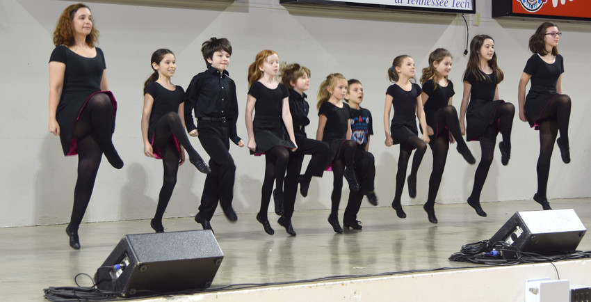 Nashville Irish Step Dancers were the first to perform at the Hooper Eblen Center Saturday during the Window on the World International Festival at Tennessee Tech.