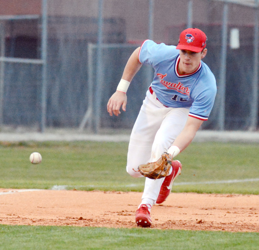 Cookeville's Will Arnett fields a ground ball during a recent Cavaliers' game. CHS will host Walker Valley in the region semifinals tonight at 7 p.m.