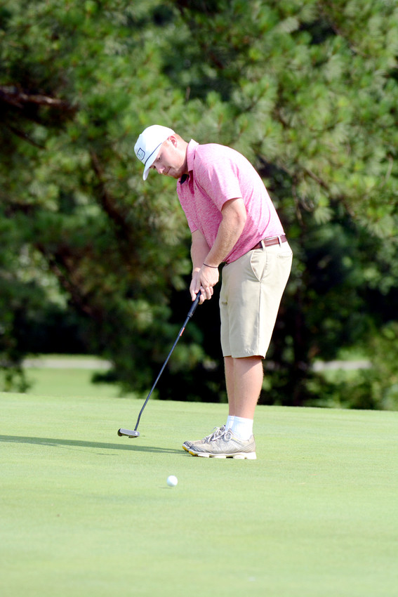 Cookeville's Will Brooks putts during the Cookeville City Amateur on Sunday at the Golden Eagle Golf Club.