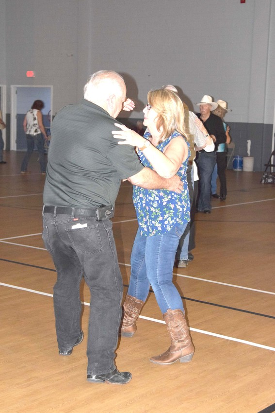 Doug and Kathy Stewart dance at the Cookeville Community Center.