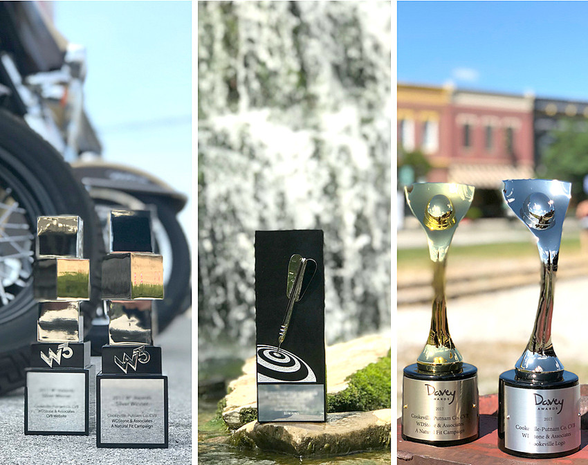 "The Cookeville-Putnam County Visitors' Bureau attains five international advertising and marketing awards, accumulatively throughout 2017-18 for logo, website, and ""A Natural Fit"" campaign."