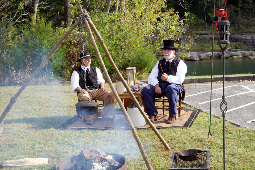 One of the stops on the upcoming History Hayride at Edgar Evins State Park will feature Adam Dale, the founder of the town of Liberty, and his friend, Bro. John Fite, as portrayed by Charles Robinson and Miles Malone, both of Liberty.