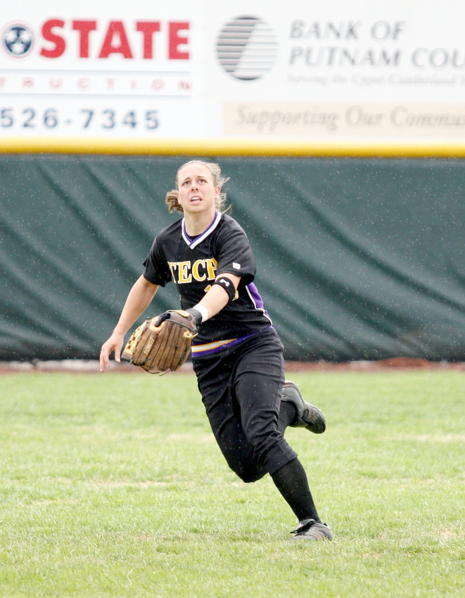 Tennessee Tech's Beth Boden prepares to make a catch.