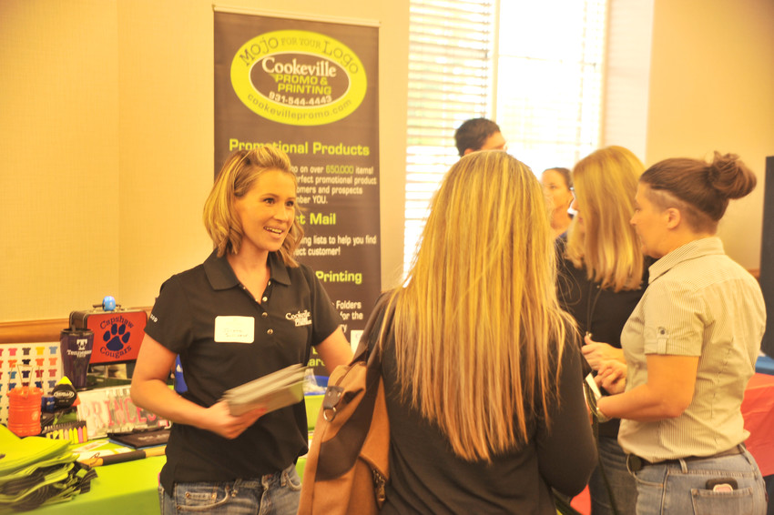 Julisha Sullivan was helping hand out information to attendees of Bizapalooza for Cookeville Promo and Printing.