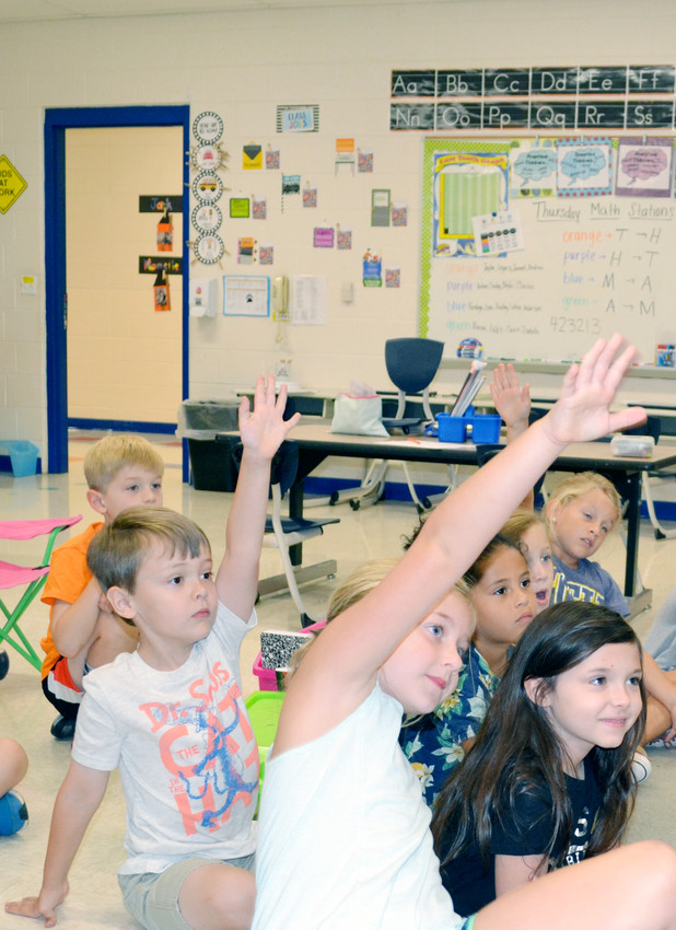 Students in Hannah Goolsby's first grade class continue the legacy of learning at Capshaw Elementary School.