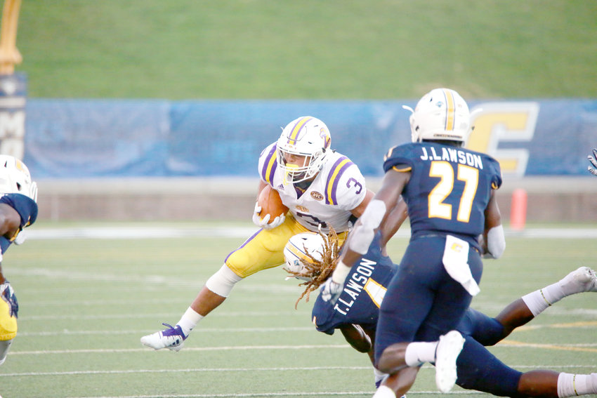 Tennessee Tech's Deven Sullivan runs during the Golden Eagles' 34-10 season opening loss at UT Chattanooga in late August