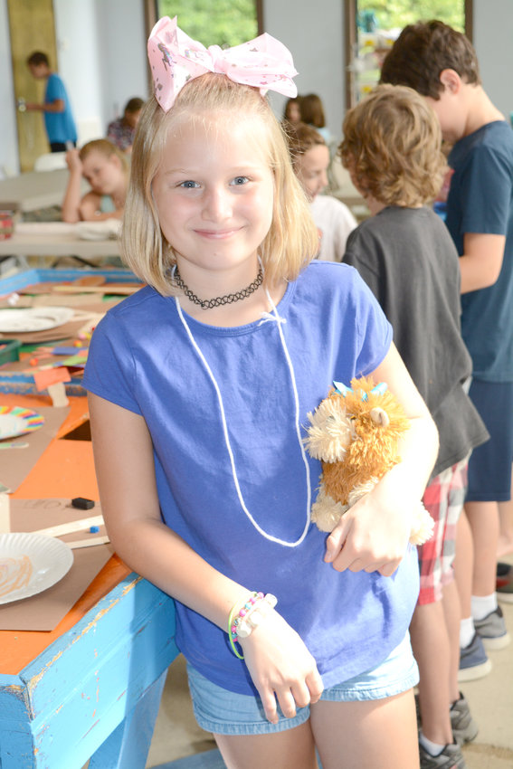 Cookeville Leisure Service's Fall Camp is in full swing at Cane Creek Recreation Center. Jaidyn Tollett brought her stuffed animal at the camp Tuesday.