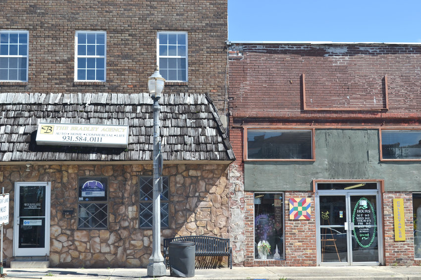 The town of Monterey has agreed to provide funding to complete repairs to the facades at Reba's Flower Shop and The Bradley Agency.