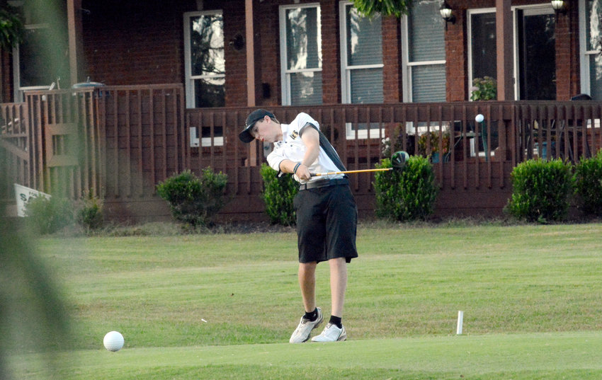 Upperman's Will Spillers drives Wednesday during the final day of the TSSAA Division I Small Class State Tournament at Willowbrook Golf Course in Manchester.