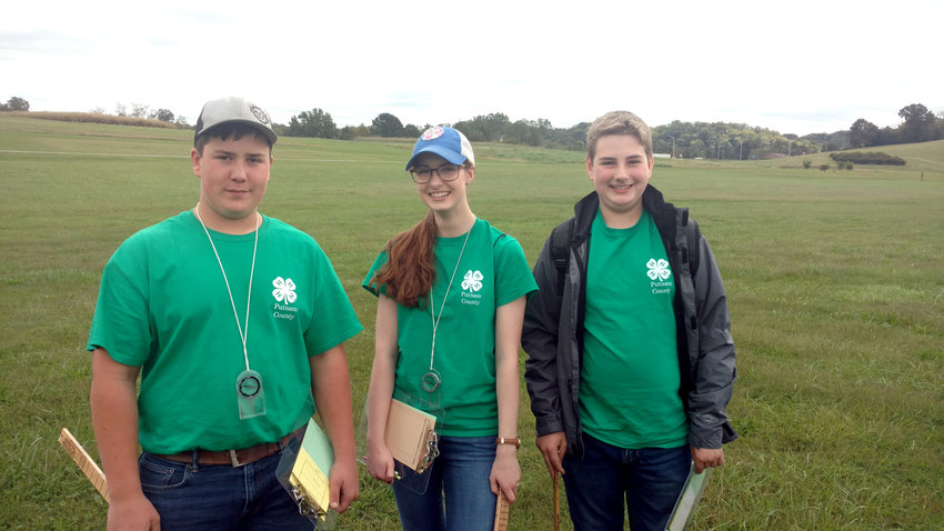 The senior high team received sixth place in the state forestry contest. Team members were, from left, Blake Shepherd, Hannah Bernhardt and Bailey Steger.
