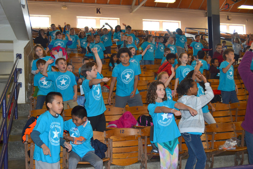 "Sycamore students invited the crowd to watch them ""whip"" and ""nae nae"" during the 3rd Grade Olympics at TTU's Memorial Gym."