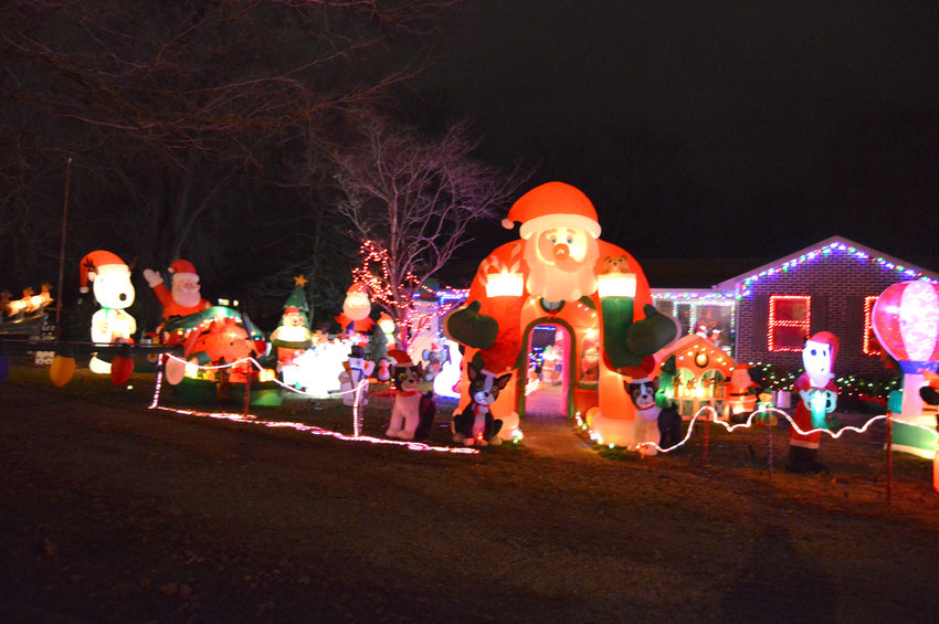 Cookeville Leisure Services' new Merry and Bright Christmas Tour of Lights map includes 15 destinations for those who enjoy night drives during the holiday season to see decorated homes. Among them is this home at 160 Joy Lane.
