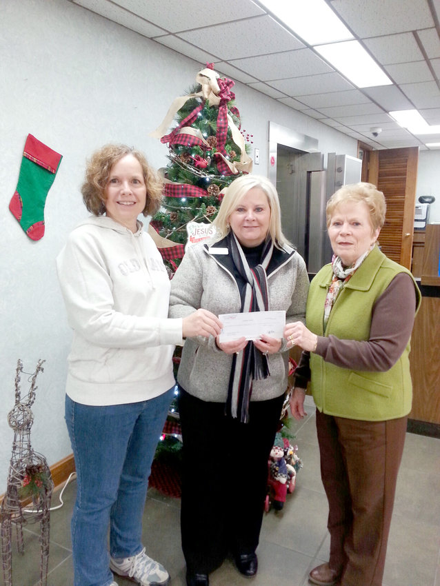 First Volunteer Bank recently became a Monterey Hometown Saint with a donation of $1,025. From left  are Monterey Hometown Project president Anita Lane, Tonya Jackson of First Volunteer Bank, and Joyce Callahan, Monterey Hometown Project treasurer.