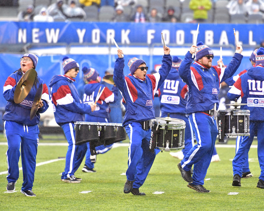 Pregame of the New York Giants versus Tennessee Titans NFL football game, Sunday, Dec. 16, 2018, at MetLife Stadium in East Rutherford, N.J. The Titans win 17-0. (Photo by Lee Walls)