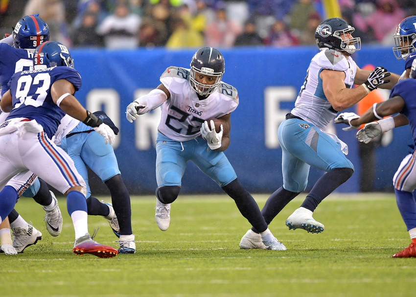 From the first half of the New York Giants versus Tennessee Titans NFL football game, Sunday, Dec. 16, 2018, at MetLife Stadium in East Rutherford, N.J. The Titans win 17-0. (Photo by Lee Walls)