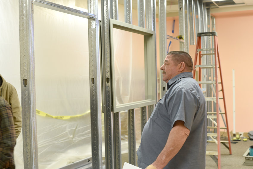 Putnam County maintenance director Dennis McBroom is helping the Putnam County Library renovate and add additional study rooms for patrons.