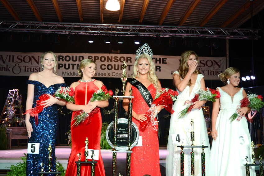 The 2018 Fairest of the Fair queen and her court are, from left, 4th runner up Lynnsey Newman, 2nd runner up Madison Phillips, Fairest of the Fair Autumn Allison, 1st runner up Ali Gilbert, and 3rd runner up Caliyah Conner.