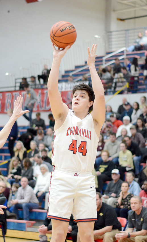 Cookeville's Alex Garrett shoots during the Cavs' 55-36 loss Friday night at CHS.