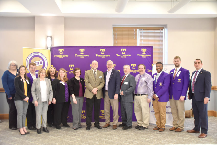 Tennessee Tech sponsored Tuesday's Business Before Hours at the Leslie Town Centre. At the event, Tech President Phil Oldham announced the university's new grand challenge, Rural Reimagined.