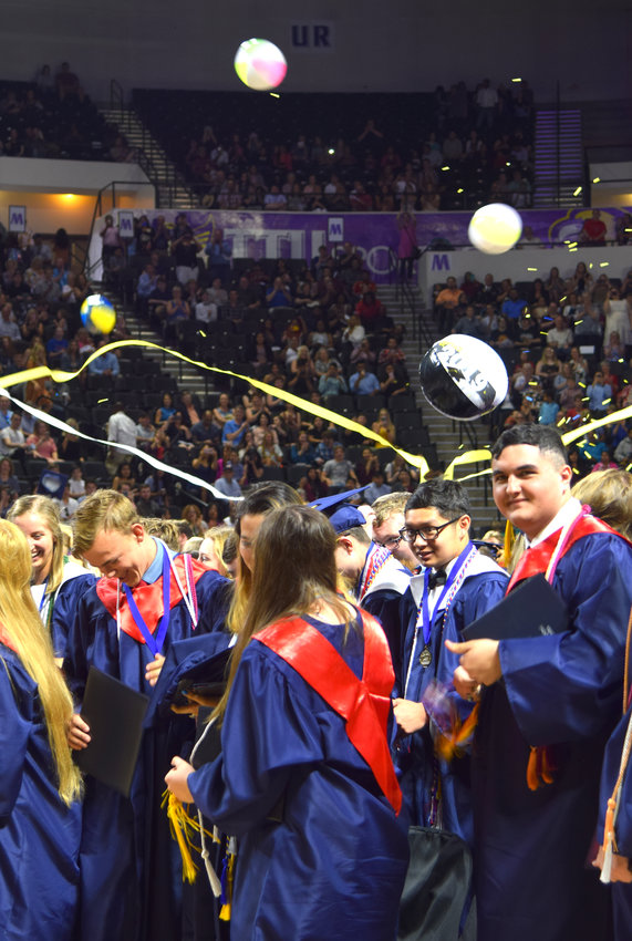 CHS graduates celebrate at the conclusion of Saturday morning's ceremony at Tennessee Tech.