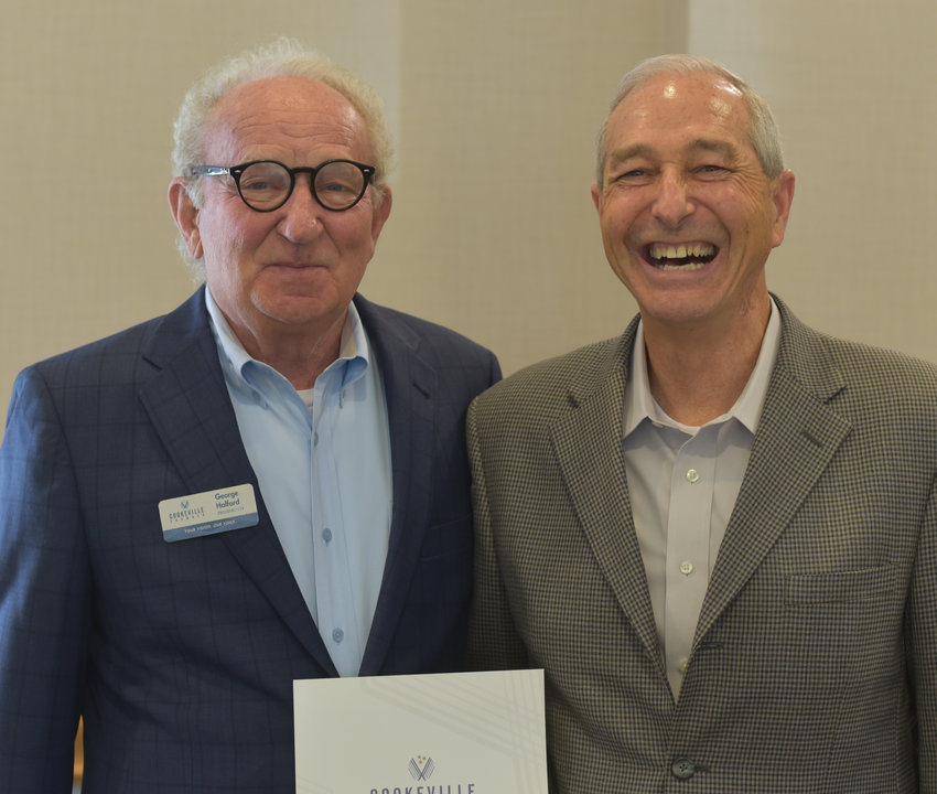 Save-A-Lot's David Burnett was honored by the Cookeville Chamber for the anniversary of the company joining the chamber.