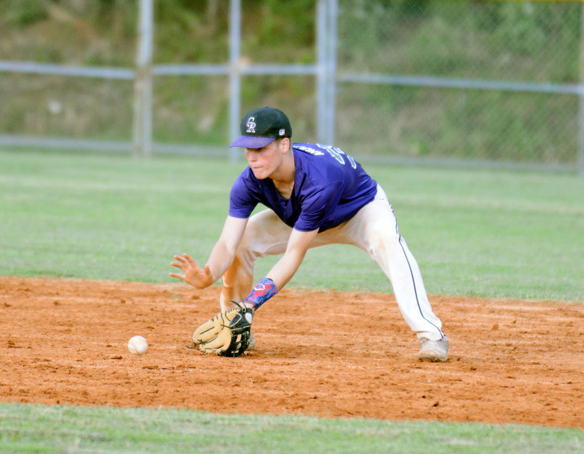 Rockies' Tyler Anderson fields a ground ball during their 6-0 shutout of the Dirt Daubers in a PCYB Major League game Monday at Park View.