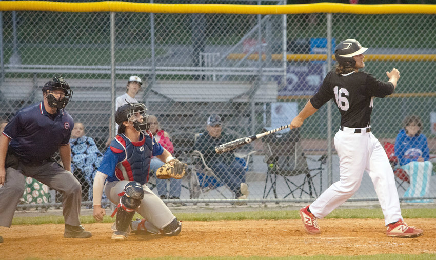 Tristin Allison goes to bat during Monterey'€™s 6-5 triumph over Gallatin in the 19U American Legion baseball game Tuesday night.