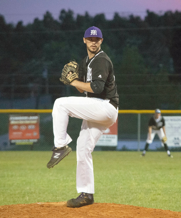 Grayson Randolph pitched for Monterey Tuesday night in the 19U American Legion game against Post 17 from Gallatin. Monterey beat Gallatin 6-5 in a late-game comeback in the eighth inning.