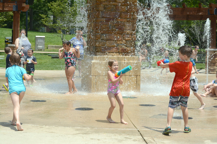 Putnam County students are out of school for summer. Some are taking advantage of the break and getting out of the summer heat at the Dogwood Park water fountain.