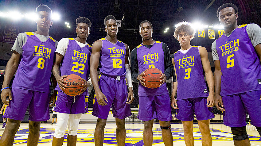 Tennessee Tech coach John Pelphrey and his staff hit the basketball recruiting trails quickly after being hired in April and they have reaped the benefits of that hard work. Pelphrey, looking for guys that were not only talented but also fit the Tech culture, announced the six players in his first recruiting class at Tech. That group includes, from left: Dane Quest, Tujautae Williams, Amadou Sylla, Larry Kuimi, Keishawn Davidson and Darius Allen.