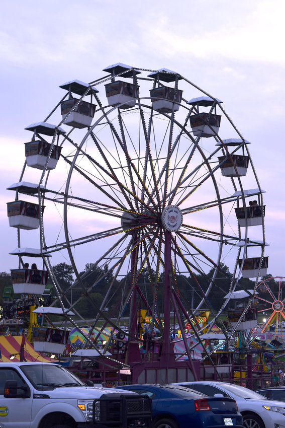 The ferris wheel is one of the many rides open for two more days at the Putnam County Fair.