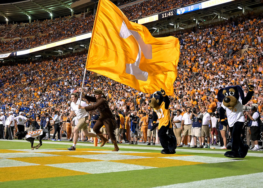From the second half of an NCAA football game between the Brigham Young Cougars and the Tennessee Volunteers Saturday, Sept. 7, 2019, at Neyland Stadium in Knoxville, Tenn. BYU defeats UT 29-26 in double overtime.