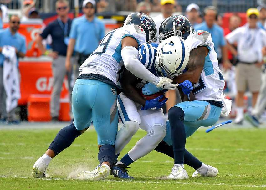 From the second half of an NFL game between the Tennessee Titans and the Indianapolis Colts Sept. 15, 2019, at Nissan Stadium in Nashville, Tenn. The Colts beat the Titans 19-17.