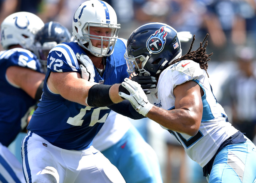 From the first half of an NFL game between the Tennessee Titans and the Indianapolis Colts Sept. 15, 2019, at Nissan Stadium in Nashville, Tenn. The Colts beat the Titans 19-17.