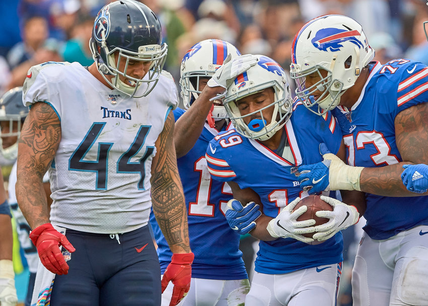 From the second half of an NFL game between the Buffalo Bills and the Tennessee Titans Sunday, Oct. 6, 2019, at Nissan Stadium in Nashville, Tenn.
