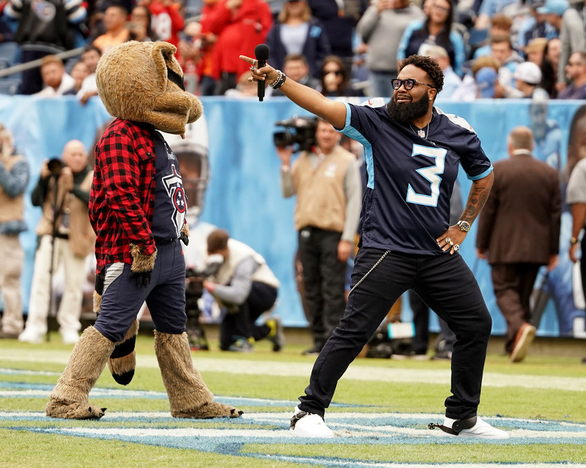 From the Tampa Bay Buccaneers at Tennessee Titans NFL football game Sunday, Oct. 27, 2019, at Nissan Stadium in Nashville, Tenn.