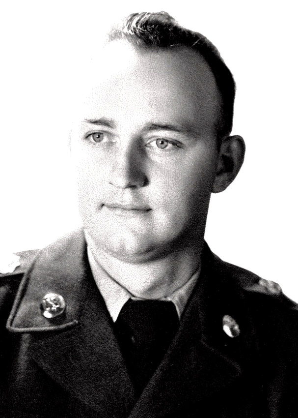 U.S. Army Veteran Sam Gibbons during his service time in World War II.