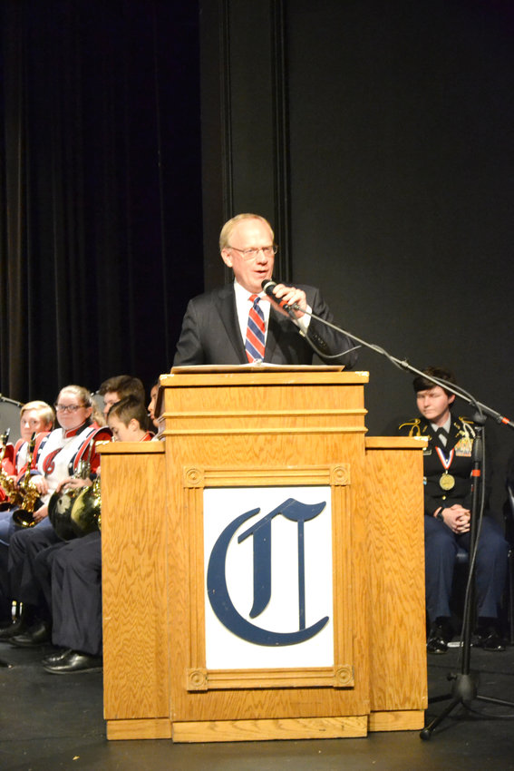 U.S. Rep. John Rose was the featured speaker at the Cookeville High School Veterans Program.